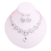 Clip-on Earrings & Beautiful Pendant Necklace Bridal Dowry Set Wedding Jewellery