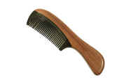 Medium Tooth Comb Purpleheart Wood Handle and Buffalo Horn Teeth Handmade Comb - JM010 by Ricocoinc