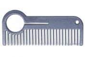 HEIRCOMB Silver Metallic Stainless Steel Metal Beard Comb