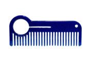 HEIRCOMB Blue Metallic Stainless Steel Metal Beard Comb