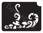 Mushrooms 1008 Body Art Glitter Makeup Tattoo Stencil- 5 Pack
