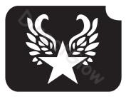 Star Wings 1001 Body Art Glitter Makeup Tattoo Stencil- 5 Pack