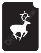 Deer 1004 Body Art Glitter Makeup Tattoo Stencil- 5 Pack