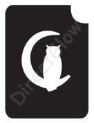 Owl In Cescent Moon 1005 Body Art Glitter Makeup Tattoo Stencil- 5 Pack