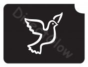 Dove 1007 Body Art Glitter Makeup Tattoo Stencil- 5 Pack