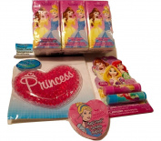 Disney Princess Lip Gloss; Washcloth; Pocket Tissues; Princess Cold Pack; 4-pc