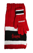 NCAA Team Colour Knit Scarf and Glove Gift Set