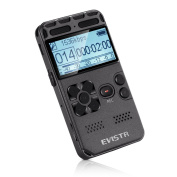 EVISTR L58 Digital Voice Recorder with TF Card Slot and Password Protection Function Large Display Voice Activated Audio Recording Device