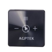 AGPTEK A15 8GB Bluetooth 4.2 Mini Mp3 player, with Back Clip for Sport, Black