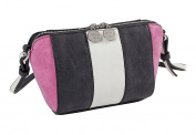 Sydney Love Colour Block Cross Body Bag, Linen/Black/Fuchsia, Small