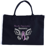 Macular Degeneration Awareness Butterfly With Purple Ribbon - Tote Bag