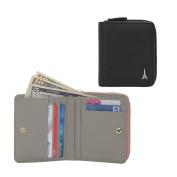 Jnjstella Women's Genuine Leather Zip-around Half Card Case Coin Wallet