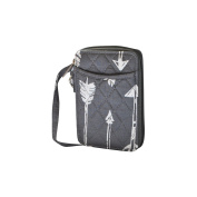 Grey Arrow Print NGIL Quilted Wristlet Wallet