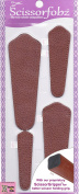 Scissors sheaths by SCISSORFOBZ with ScissorGripper -VALUE PACK-4 sizes- Designer Scissor Covers Holders for embroidery sewing quilting - Quilters sewers gift - Top Grain Texas Tan colour. S-36