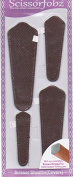Scissors sheaths by SCISSORFOBZ with ScissorGripper -VALUE PACK-4 sizes- Designer Scissor Covers Holders for embroidery sewing quilting - Quilters sewers gift -Bronze Micro Hexagon Matrix Design.S-25