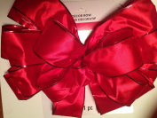 Large 17 Loop 6.4cm red satin with foil wire edge Ribbon Bow