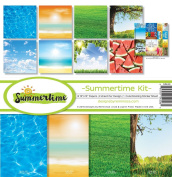 Reminisce SUM-200 Summertime Scrapbook Collection Kit