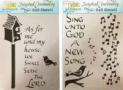 The Crafter's Workshop Set of 2 Bible Journaling Stencils – My House (TCW2155) and Sing Unto God (TCW2156) 23cm x 15cm - Bundle 2 Items