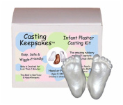 INFANT Baby Foot Prints Hand Casting kit Moulds - PEARL