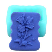 Single flower with buds soap mould