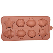Sea Shell and Fish Chocolate Candy and Fondant Mould