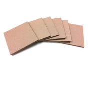 Square MDF Wood Craft Plaque Sign 13cm x 13cm , 6-pack