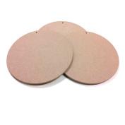 Round MDF Wood Craft Plaque Sign 25cm , 3-pack