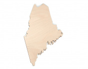 Gocutouts Maine State 30cm Cutout Unfinished Package of 3 Wooden Baltic Birch 0.3cm Cutout USA Made