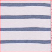 White/Chambray Stripe T-Shirt Knit, Fabric Sold By the Yard