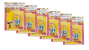 "Set of 6 Basket Shrink Wrap 60cm X 80cm (Pink) with 4 Accent Ribbons Each Ribbon Is 3/8"" X 0.7m Used for Baskets"