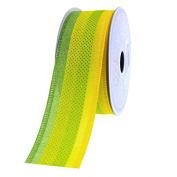 Ocean Stripes Grosgrain Ribbon, 3.8cm , 10 Yards