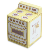 INDIGOSHOP Vintage Oven Muffin Paper Gift Box 5EA in set 3 Colours 3.3X3.3X4.6(in) Yellow