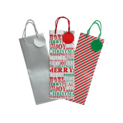 Christmas Shop Bottle Gift Bags (3 Pack) (One Size)