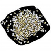 Mchoice Nail Art 250 Pieces Gold Silver 5mm Star Metal Studs for Nails Phone Decoration