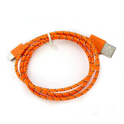 For HTC Nokia Samsung, Mchoice Hemp Rope Micro USB Charger Charging Sync Data Cable Cord for HTC Nokia Samsung