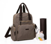 Baby Nappy Bag Backpack With Changing Pad   Multifunction Large Storage Organiser Includes Built In Baby Wipe Pocket And Adjustable Shoulder To Stroller Strap   For Both Mom and Dad   Grey Colour