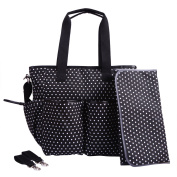 Nappy Bag by HDE Canvas Weekender Tote with Baby Changing Pad & Stroller Straps