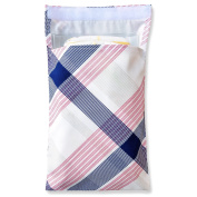 Tiny Tote Along Nappy Bag - Red & Blue Preppy Print