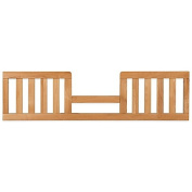 Modern Toddler Guard Rail in Natural, Made Of Poplar Wood In Non-toxic Finish, Converts Crib Into Toddler Bed