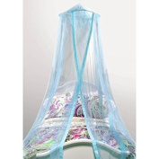 Mainstays Kids Satin Trim Canopy, 100-Percent Polyester   Featuring a Hoop and Netting-Hanging Ring