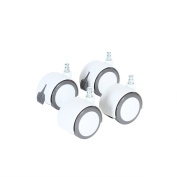 babybay Rolling Casters White / Grey