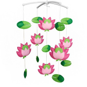 Blooming Lotus Musical Mobile Baby Crib Rotatable Bed Bell