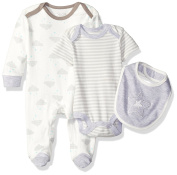 Rene Rofe Baby 3 Piece Take Me Home Set with Lap Shoulder Coverall Bodysuit and Bib