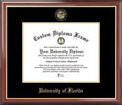 University of Florida Gators - Embossed Seal - Mahogany Gold Trim - Diploma Frame