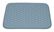 Gear New GN-BMAT-MF-A-11098-2417 Wave Pattern Bath Rug Mat No Slip Microfiber Memory Foam