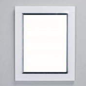 Eviva EVMR412-24X30-WH Aberdeen 60cm White Framed Bathroom Wall Mirror Combination
