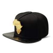 MCSAYS Hip Hop Style Crsytal CZ Iced Out Africa Map Pendant Cotton Sports Caps Baseball Cap/ Hat