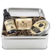 The Viking Beard Kit - Oakmoss & pine scented beard oil, beard balm, and beard shampoo in a kit