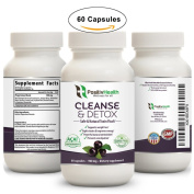 PositivHealth Body Cleanse & Detox Dietary Supplement 60 Capsules | Natural Formula With Antioxidants | Cleanse Colon & Liver, Improve Digestion, Promote Weight Loss & Boost Energy | For Men & Women
