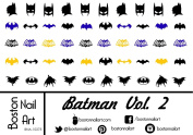 Batman Vol. 2 - Waterslide Nail Decals - 50pc